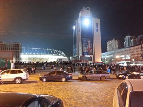 Dinamo Kiyev - Everton oyunundan öncə kiyevli azərkeşlər